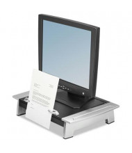 "Fellowes Office Suites 4"" to 6-1/2"" H Copyholder Monitor Riser with Drawer, Black/Silver"