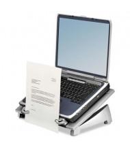 """Fellowes Office Suites 6-1/2"""" H Copyholder Laptop Riser Plus, Black/Silver"""