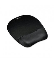 "Fellowes 8"" x 9-1/4"" Mouse Pad with Memory Foam Wrist Rest, Black"
