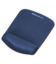 "Fellowes PlushTouch 7-1/4"" x 9-3/8"" Foam Mouse Pad with Wrist Rest, Blue"