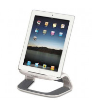 """Fellowes 4-5/8"""" H I-Spire Tablet Riser, White/Gray"""