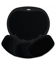 "Fellowes Easy Glide 10"" x 12"" Gel Mouse Pad with Wrist Rest, Black"