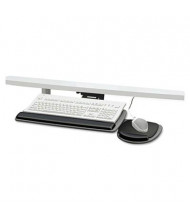 "Fellowes 17-5/16"" Track Standard Keyboard Tray, Black/Gray"