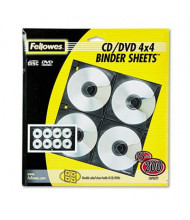 Fellowes 25-Pack Two-Sided CD & DVD Refill Sheets, Black