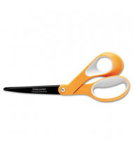 "Fiskars Premier Non-Stick Titanium Softgrip Scissors, 8"" Length, Orange/Gray"
