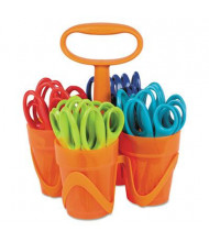 "Fiskars 5"" Pointed Tip Classpack Caddy, Assorted, 24/Pack"