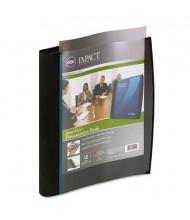 "Wilson Jones 12-Sleeve 8-1/2"" x 11"" Smart-View Multi-Ring Presentation Book, Black/Blue"