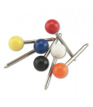 "GEM 3/16"" Head Assorted Plastic Map Tacks, 100/Box"