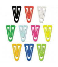 Acco Large Plastic Paper Clips, Assorted Colors, 200/Box