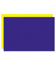 "Geographics Eco Brites 20"" x 30"" 5-Pack Blue/Yellow Too Cool Foam Board"