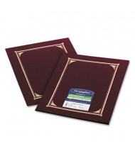 "Geographics 9-3/4"" x 12-1/2"" 6-Pack Certificate Document Cover, Burgundy"