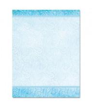 """Geographics 8-1/2"""" x 11"""", 24lb, 100-Sheets, Aqua Paisley Design Paper"""