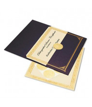 "Geographics 8-1/2"" X 11"", 60lb, 6-Sheets, Ivory/Gold Foil Embossed Award Certificate Kit"