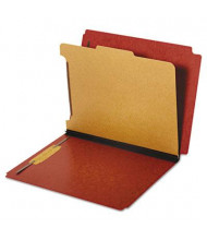 Pendaflex 4-Section Letter Pressboard 25-Point Dual Tab Classification Folders, Red, 10/Box