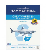 "Hammermill Great White 8-1/2"" X 11"", 20lb, 5000-Sheets, Recycled Copy Paper"