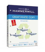 "Hammermill Great White 8-1/2"" X 11"", 20lb, 5000-Sheets, 3-Hole Punched Copy Paper"