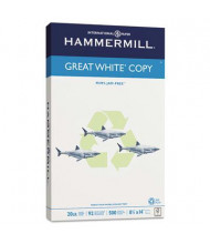 "Hammermill Great White 8-1/2"" X 14"", 20lb, 500-Sheets, Recycled Copy Paper"
