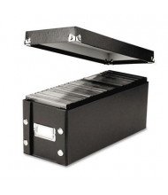 Snap-N-Store 60-Capacity Media Storage Box, Black