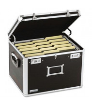 "Vaultz 14"" D Letter & Legal Locking File Chest Storage Box, Black"