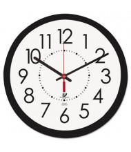 "Chicago Lighthouse 14.5"" Contemporary Electric Wall Clock, Black"