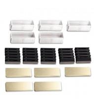 The Mighty Badge Laser/Inkjet Name Badge Bulk Kit, Gold, 50/Kit