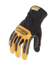 Ironclad Ranchworx Medium Leather Gloves, Black/Tan