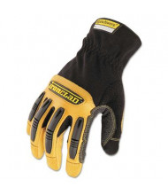 Ironclad Ranchworx Large Leather Gloves, Black/Tan