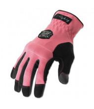 Ironclad Tuff Chix Women's Large Gloves, Pink/Black