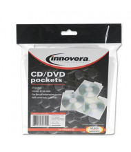 Innovera 25-Pack CD & DVD Pockets