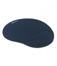 "Innovera 10-3/8"" x 8-7/8"" Nonskid Mouse Pad with Gel Wrist Pad, Blue"