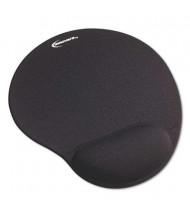 "Innovera 10-3/8"" x 8-7/8"" Nonskid Mouse Pad with Gel Wrist Pad, Black"