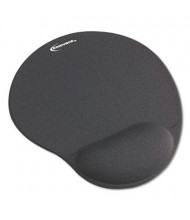 "Innovera 10-3/8"" x 8-7/8"" Nonskid Mouse Pad with Gel Wrist Pad, Gray"