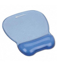 "Innovera 8-1/4"" x 9-5/8"" Nonskid Gel Mouse Pad with Wrist Rest, Blue"