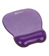 "Innovera 8-1/4"" x 9-5/8"" Nonskid Gel Mouse Pad with Wrist Rest, Purple"