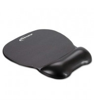 "Innovera 8-1/4"" x 9-5/8"" Softskin Gel Mouse Pad with Wrist Rest, Black"