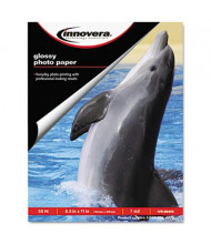 "Innovera 8-1/2"" X 11"", 7 mil, 50-Sheets, Glossy Photo Paper"