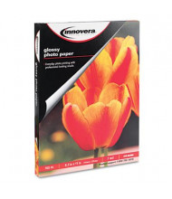 "Innovera 8-1/2"" X 11"", 7 mil, 100-Sheets, Glossy Photo Paper"