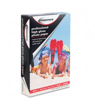 "Innovera 4"" X 6"", 10 Mil, 100-Sheets, High-Gloss Photo Paper"
