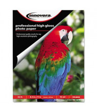 "Innovera 8-1/2"" X 11"", 10 Mil, 50-Sheets, High-Gloss Photo Paper"