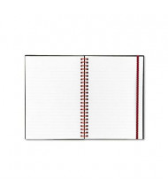 "Black n' Red 5-7/8"" X 8-1/4"" 70-Sheet Margin Rule Wirebound Notebook, Black Cover"