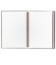 "Black N' Red 8-1/4"" X 11-3/4"" 70-Sheet Margin Rule Wirebound Notebook, Black Cover"