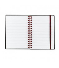 "Black N' Red 4-1/8"" X 5-7/8"" 70-Sheet Legal Rule Wirebound Notebook, Black Cover"