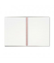 "Black N' Red 8-1/2"" X 11"" 70-Sheet Margin Rule Wirebound Notebook, Black Cover"
