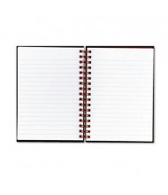 "Black n' Red 5-7/8"" X 8-1/4"" 70-Sheet Legal Rule Wirebound Notebook, Black Cover"