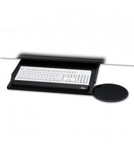 "Kelly Computer Supply 22"" Under-Desk Keyboard Tray with Oval Mouse Platform, Black"