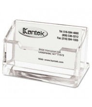 Kantek Acrylic Business Card Holder, Holds 80 Cards, Clear