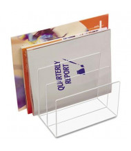 Kantek 3-Section Acrylic Desk File Sorter, Clear