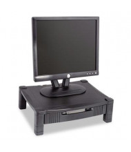 "Kantek 3"" to 6-1/2"" H Height-Adjustable Monitor Stand with Drawer, Black"