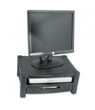 "Kantek 3"" to 6-1/2"" H Two Level Monitor Stand with Removable Drawer, Black"
