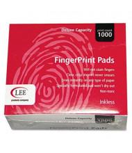 "Lee Inkless Fingerprint Pads, 2-1/4"" x 1-3/4"", Black, 12/Box"